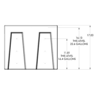 1R Seamless Sump Tub Configuration 2