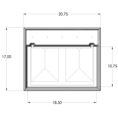1R Seamless Sump Tub Configuration 3