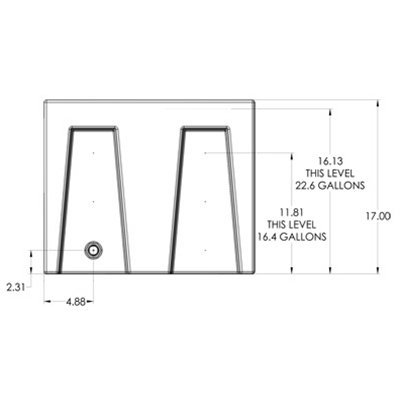 1RE Seamless Sump Tub Configuration 2