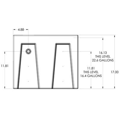 1RR Seamless Sump Tub Configuration 2