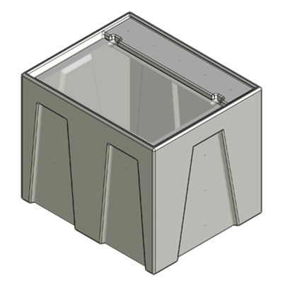 1R Seamless Sump Tub Configuration 1