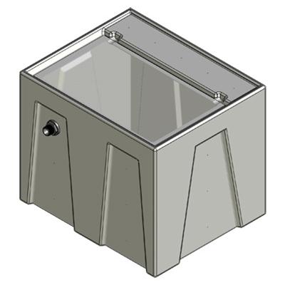 1RR Seamless Sump Tub Configuration 1