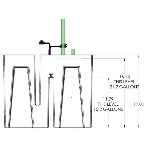 Seamless Sump Baffle Tub Diagram Front