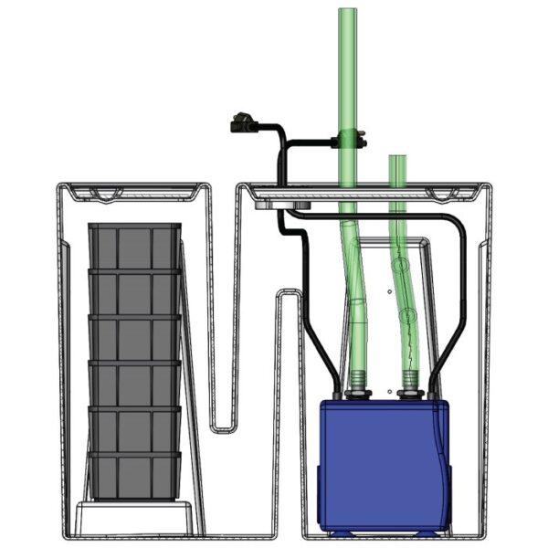 Seamless Sump Baffle Tub Diagram Inside
