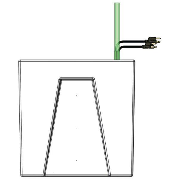 Seamless Sump Baffle Tub Diagram Right