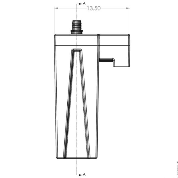 Seamless Sump Single Sock Tub Diagram Front