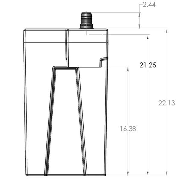 Seamless Sump Single Sock Tub Diagram Right