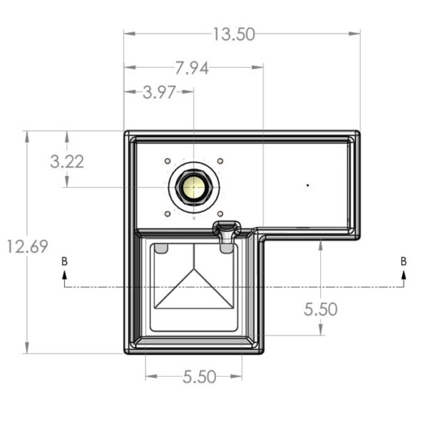 Seamless Sump Single Sock Tub Diagram Top