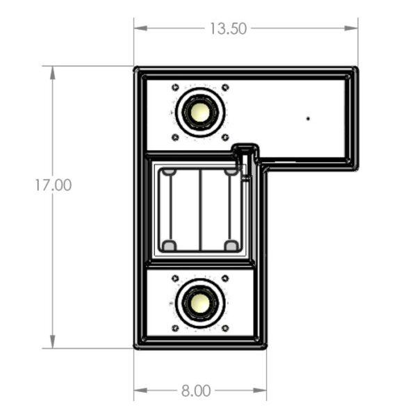 Seamless Sump Double Sock Tub Diagram Top
