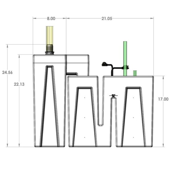 Seamless Sump Package 1SB-1B Diagram Front
