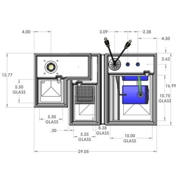 Seamless Sump Package 1SB-1B Diagram Top