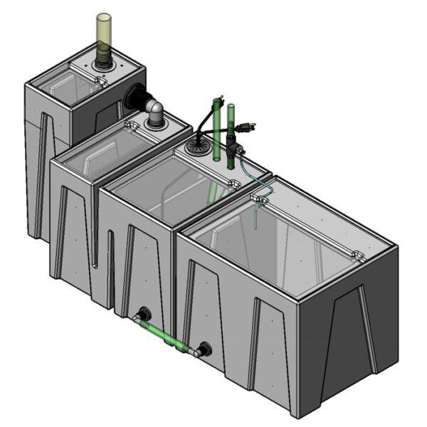 Seamless Sump Package 150-240 Gallon Evaporation Configuration