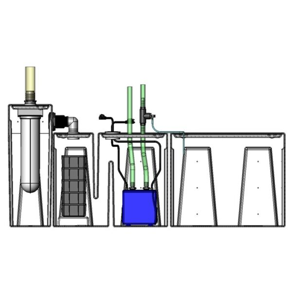 Seamless Sump Package 150-240 Gallon Evaporation Configuration Diagram Inside