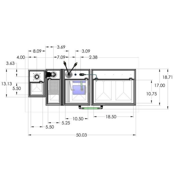 Seamless Sump Package 150-240 Gallon Evaporation Configuration Diagram Top
