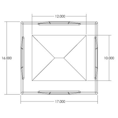 1RM Seamless Sump Tub Configuration 3