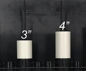 "3"" PVC Pipe for Internal Plumbing - Aquarium Overflow Box"
