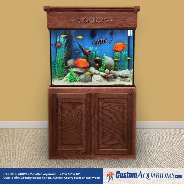 """75 Gallon* Glass Aquarium - 24""""H x 36""""L x 18""""D"""