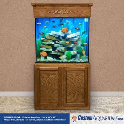 """90 Gallon* Glass Aquarium - 30""""H x 36""""L x 18""""D"""