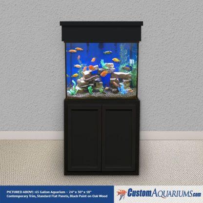 """65 Gallon* Glass Aquarium - 24""""H x 30""""L x 18""""D"""