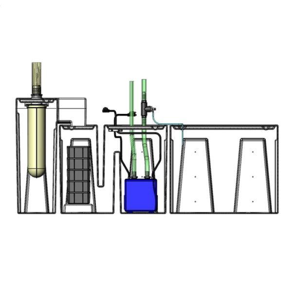 Seamless Sump Package 150-240 Gallon Refugium Configuration Diagram Inside