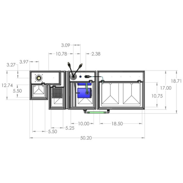 Seamless Sump Package 150-240 Gallon Refugium Configuration Diagram Top