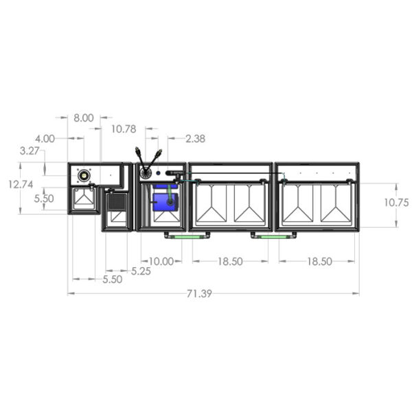 1200GPH Large Seamless Sump® Package - Diagram Top