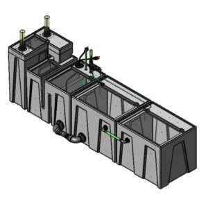 The 2400GPH Large Seamless Sump® Package - Evaporation / Refugium
