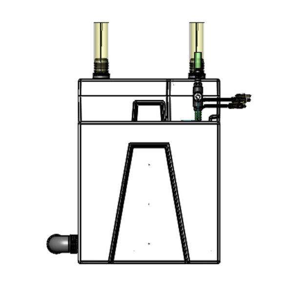 The 2400GPH Small Seamless Sump® Package - Evaporation Diagram Right