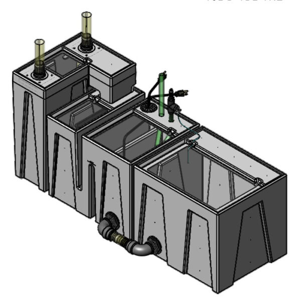 The 2400GPH Small Seamless Sump® Package - Evaporation