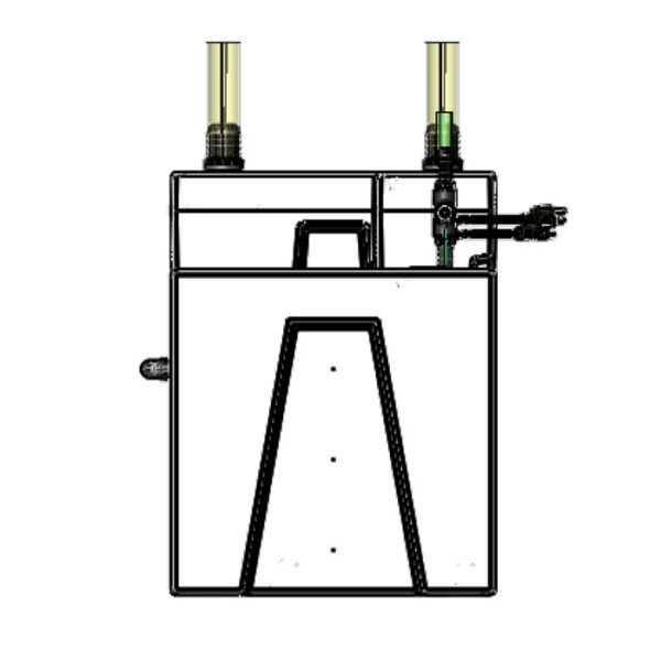 The 2400GPH Small Seamless Sump® Package - Refugium Diagram Right