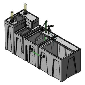 The 2400GPH Small Seamless Sump® Package - Refugium
