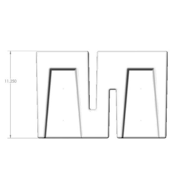 Seamless Sump Low Profile Baffle Tub Diagram Front
