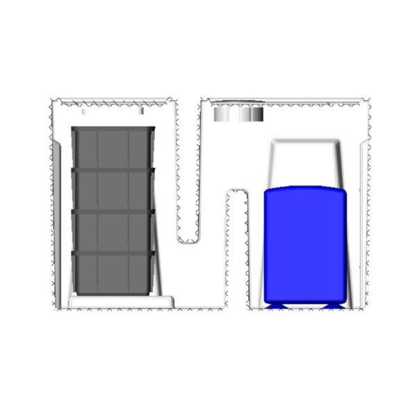 Seamless Sump Low Profile Baffle Tub Diagram Inside