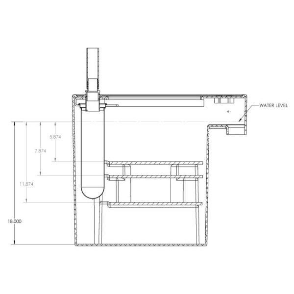 Seamless Sump Skimmer Tub Diagram Inside