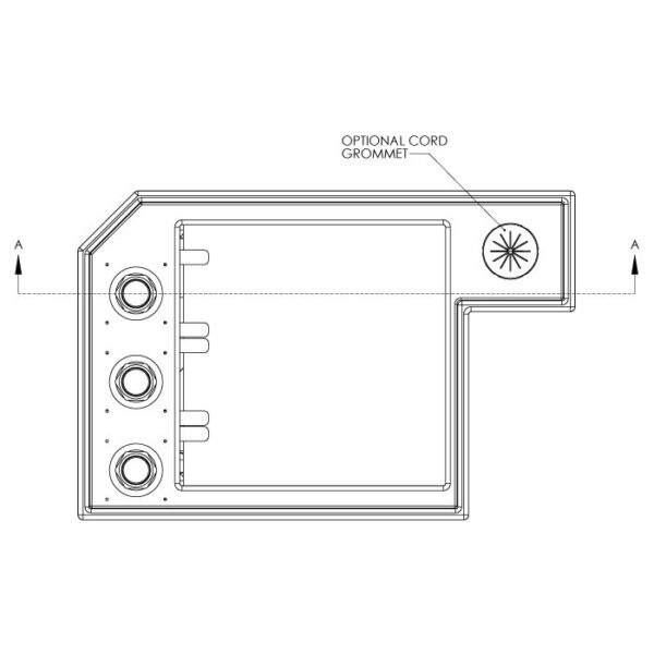 Seamless Sump Skimmer Tub Diagram Top