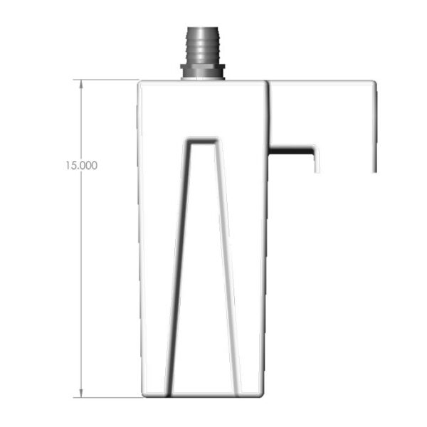 Seamless Sump Low Profile Single Sock Tub Diagram Front