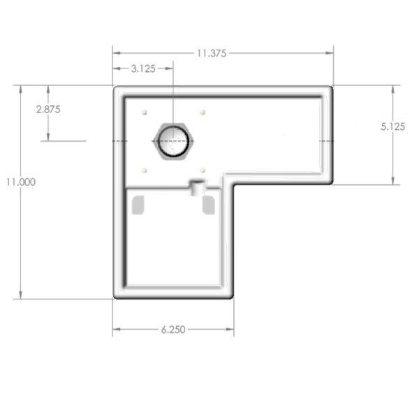 Seamless Sump Low Profile Single Sock Tub Diagram Top