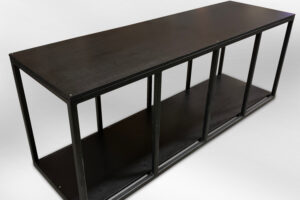 black powder coated steel aquarium stand