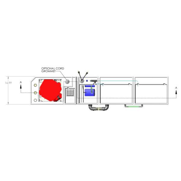 3600GPH Large Reef Seamless Sump® Package - Evaporation / Refugium - Diagram Top