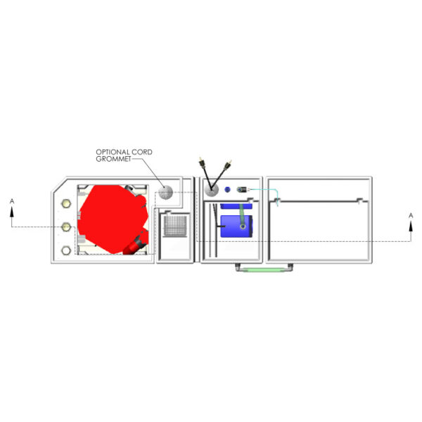 3600GPH Small Reef Seamless Sump® Package - Refugium - Diagram Top