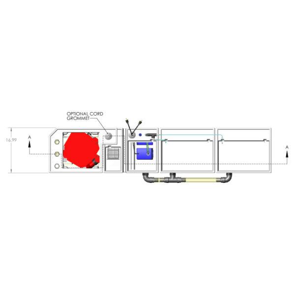 3600GPH Large Reef Seamless Sump® Package - Evaporation / Evaporation - Diagram Top