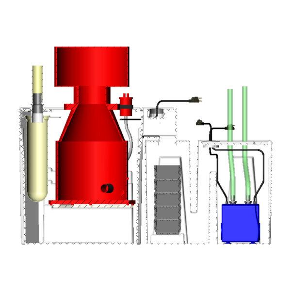 3600GPH Nano Reef Seamless Sump® Package - Diagram Inside
