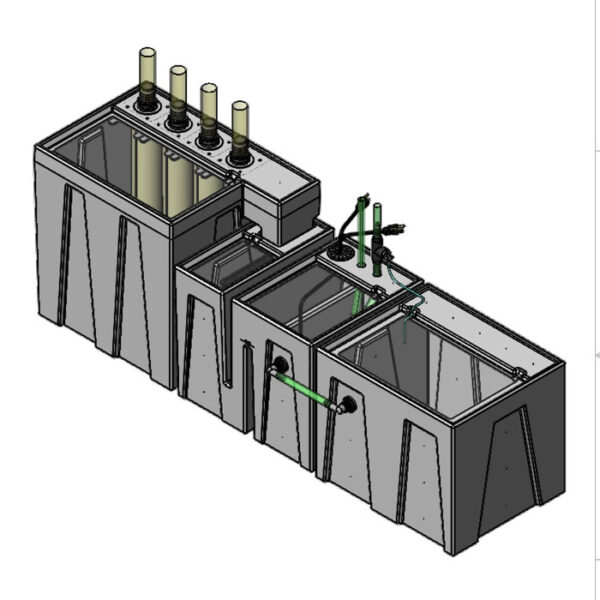 The 4800GPH Small Seamless Sump® Package - Refugium