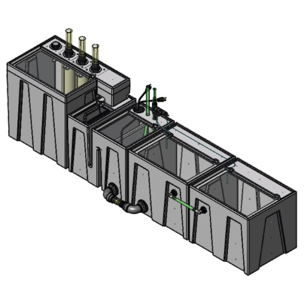 The 4800GPH Large Seamless Sump® Package - Evaporation / Refugium