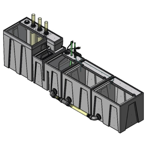 The 4800GPH Large Seamless Sump® Package - Evaporation / Evaporation