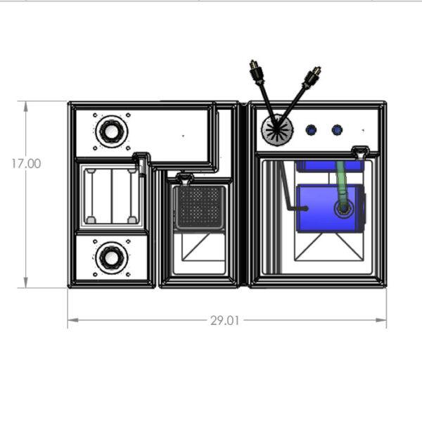 The 2400GPH Nano Seamless Sump® Package - Diagram Top