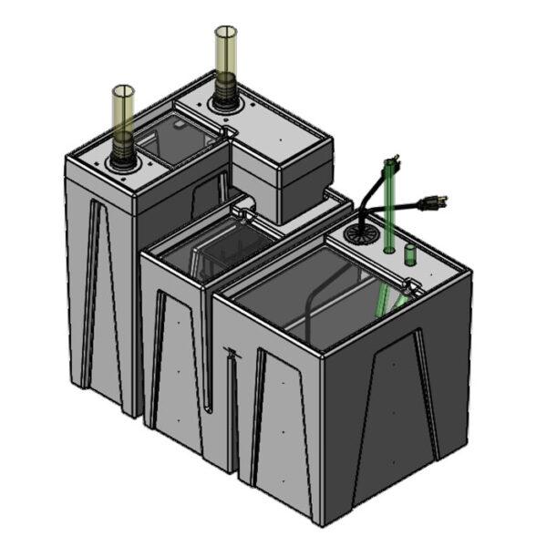 The 2400GPH Nano Seamless Sump® Package