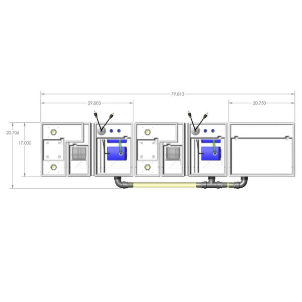 4800GPH Media-Max Small Seamless Sump® Package - Evaporation - Diagram Top