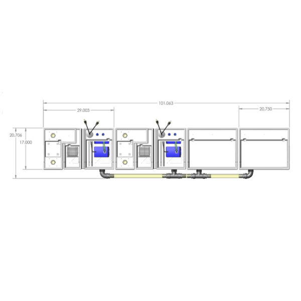 4800GPH Media-Max Small Seamless Sump® Package - Refugium4800GPH Media-Max Large Seamless Sump® Package - Evaporation / Evaporation - Diagram Top