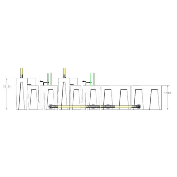 4800GPH Media-Max Small Seamless Sump® Package - Refugium4800GPH Media-Max Large Seamless Sump® Package - Evaporation / Evaporation - Diagram Front